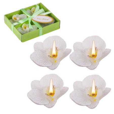 Свещ орхидея бяла
