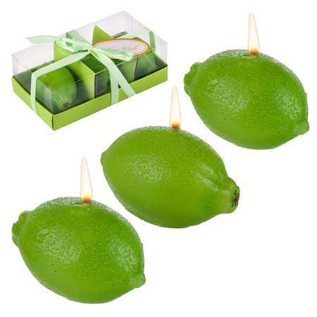 Свещ лимон зелен