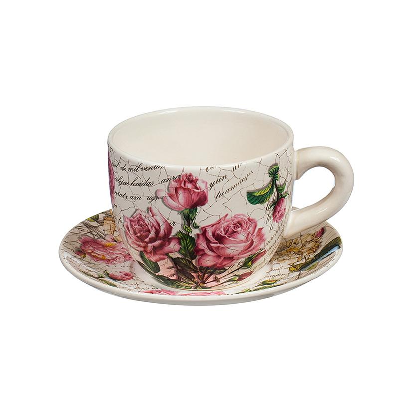 Саксия чаша рози малка