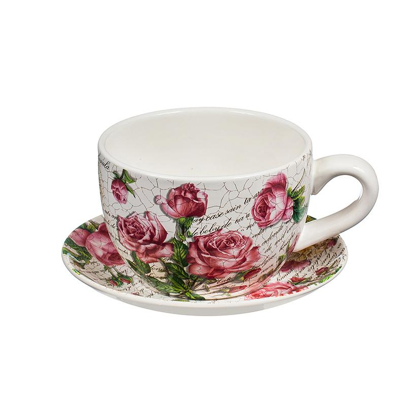 Саксия чаша рози средна