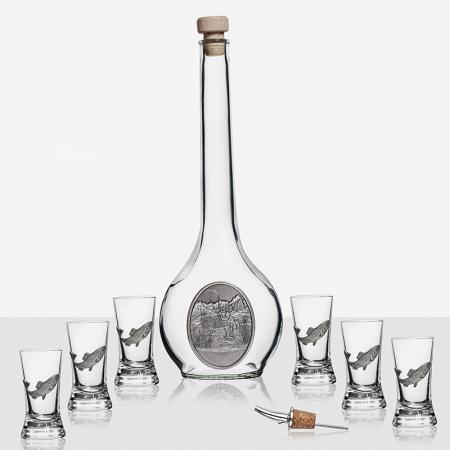 Сет бутилка +6 чаши