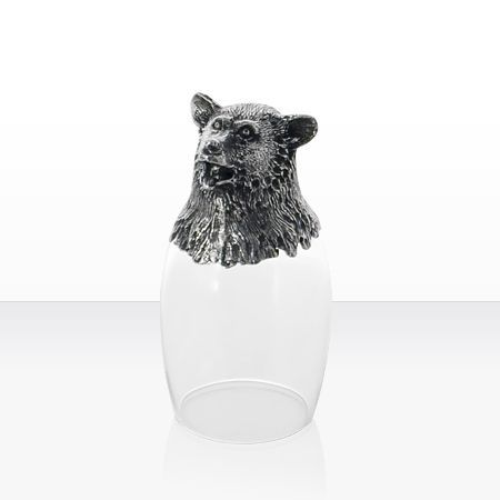 Чаша за ракия мечка