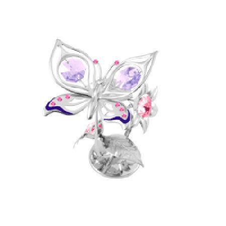 Пеперуда на цвете сребро