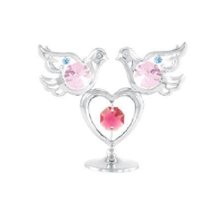 Гълъбчета и сърце сребро