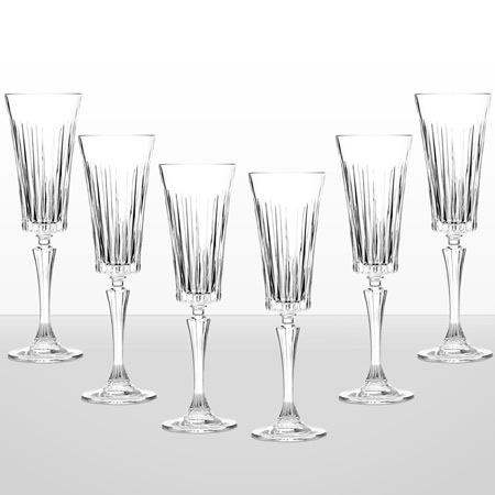 Timeless 6 чаши шампанско