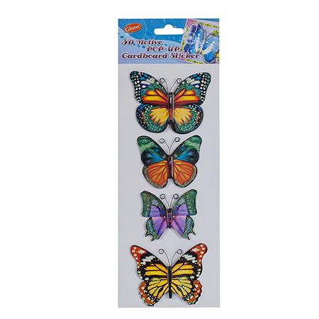 Стикер пеперуди 3D ефект