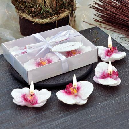 Свещ орхидея - 4 броя