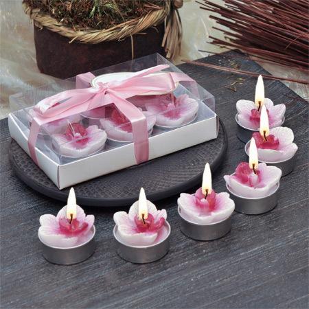Свещ орхидея - 6 броя