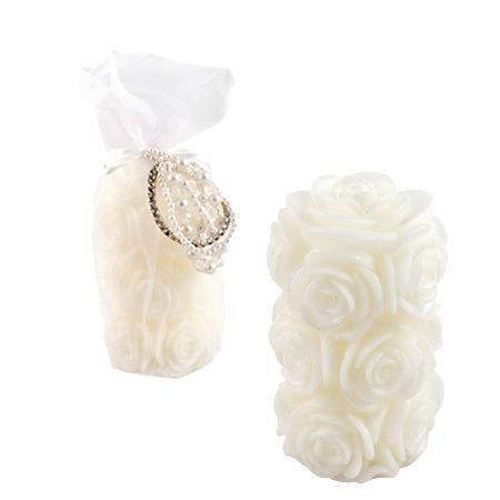 Свещ бяла роза