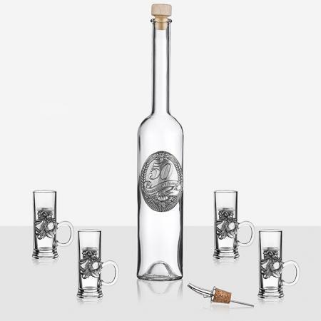 Сет 4 чаши+ бутилка 50 г.