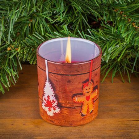 Коледен свещник стъкло
