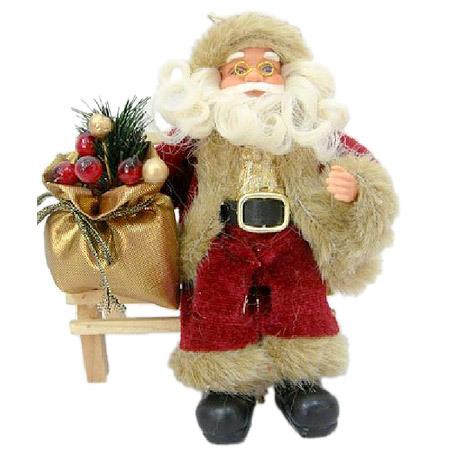 Дядо Коледа на пейка 18 см.