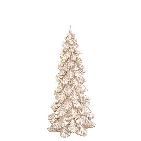 Коледна свещ елха сребро