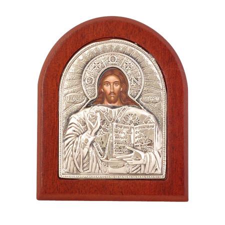 Икона Христос сребро