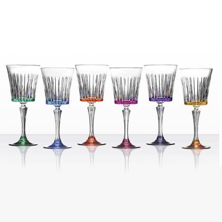 Timeless 6 цветни чаши за вино