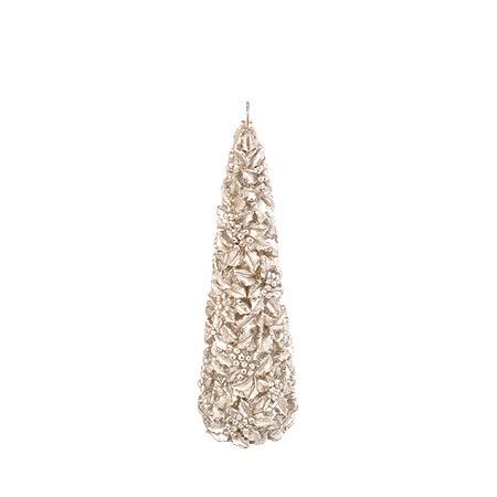 Коледна свещ сребро
