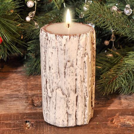 Свещ  дърво 10.5*10см.