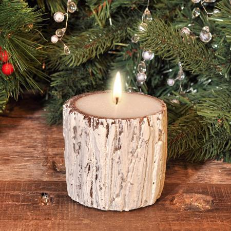 Свещ  дърво 8.5*15см.