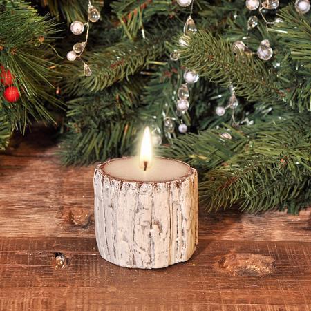 Свещ  дърво 8.5*7.5см.