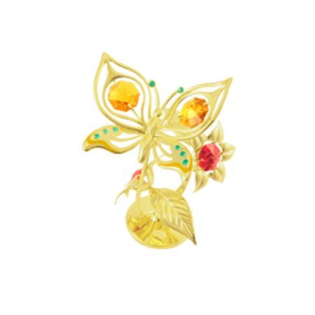 Пеперуда на цвете злато