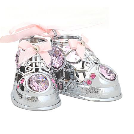 Бебешки обувчици в розово