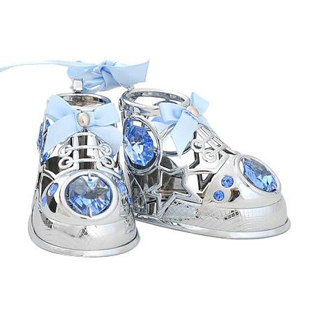 Бебешки обувчици в синьо