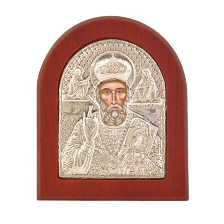Икона св.Никола сребро