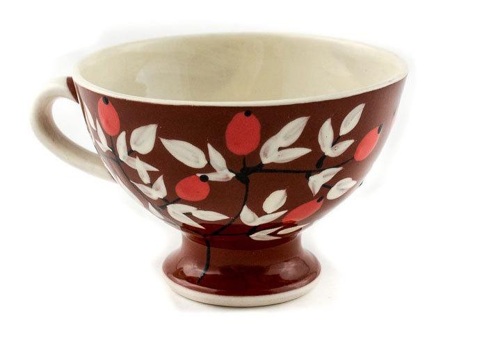 """Малка керамична чаша """"Шипки"""""""