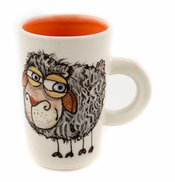"Ръчно изработена чаша ""Овца"""