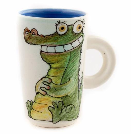 """Ръчно изработена чаша """"Крокодил"""""""