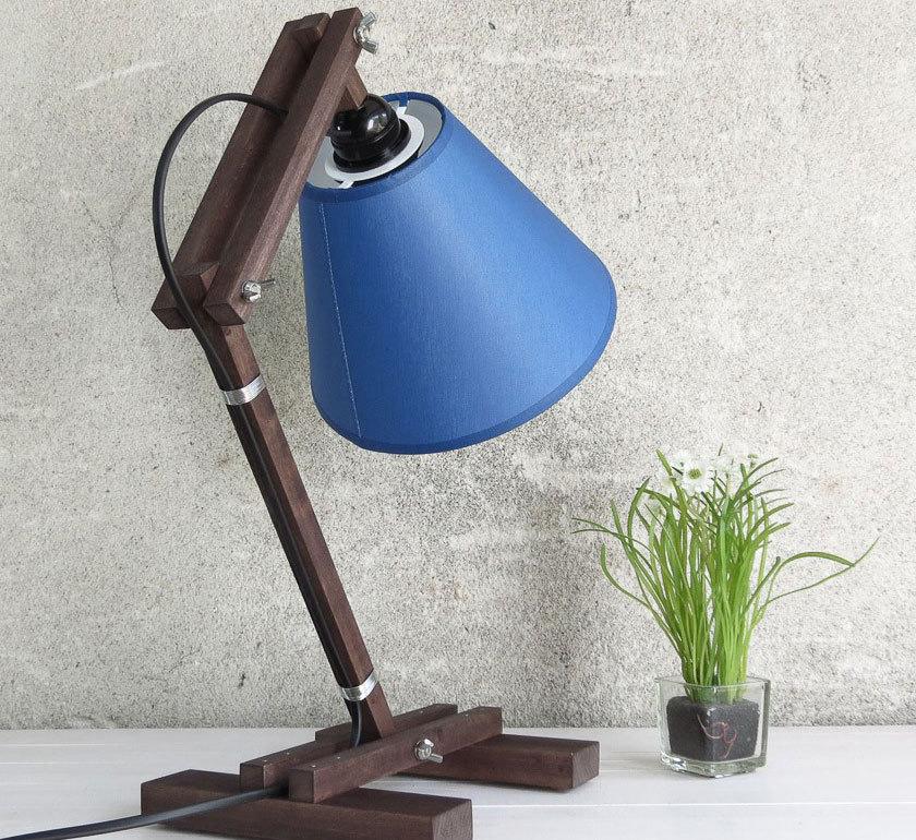 Ръчно изработена лампа синя