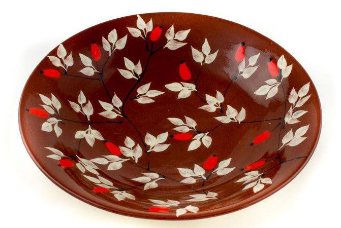 """Керамична чиния """"Шипки"""""""