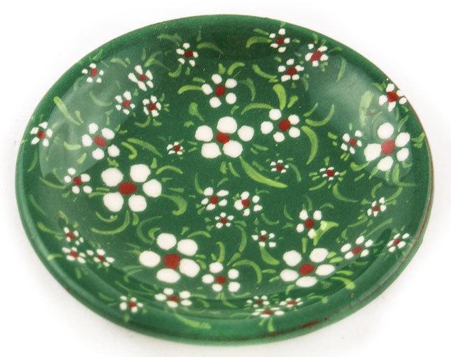 """Керамична чинийка """"Троян"""" - зелена"""