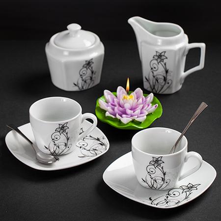 Сет за кафе Flower