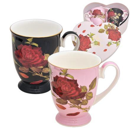 """Комплект 2 чаши """"Червена роза"""""""
