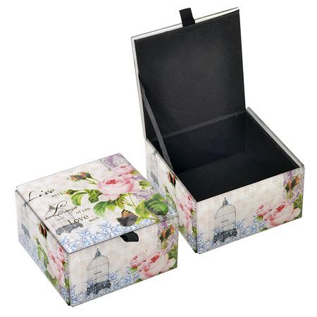"""Кутия за бижута """"Цветя"""""""