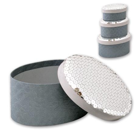 Кутии за бижута Silver комплект от 3 броя
