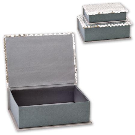 Кутии за бижута Silver комплект от 2 броя