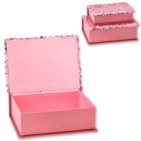 Кутии за бижута Pink комплект от 2 броя
