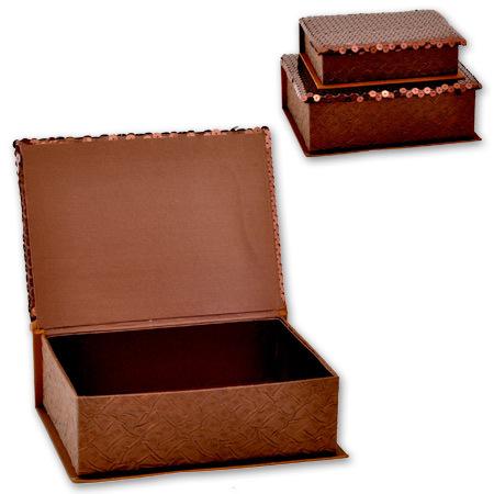 Кутии за бижута Choco комплект от 2 броя