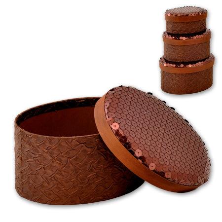 Кутии за бижута Choco комплект от 3 броя