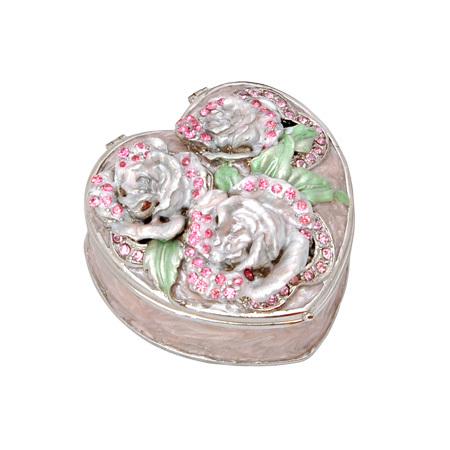"""Кутия за бижута """"Роза розова"""""""