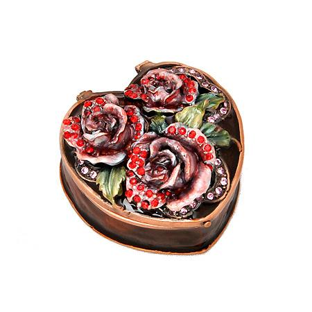 """Кутия за бижута """"Роза кафява"""""""