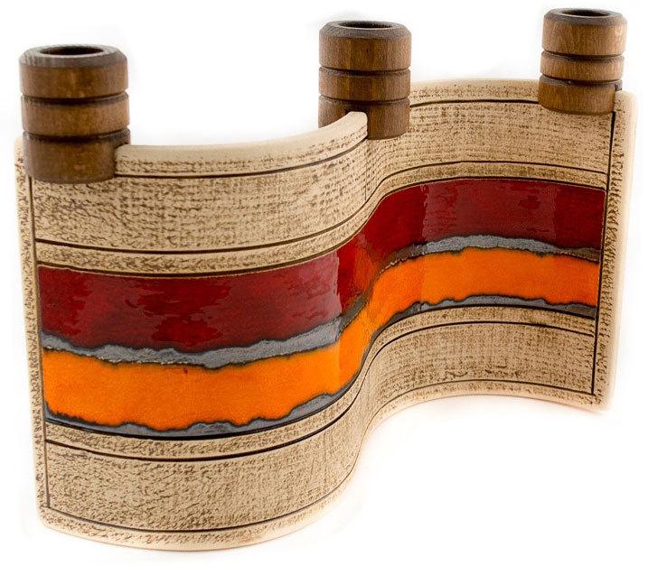 Ръчно изработен керамичен свещник