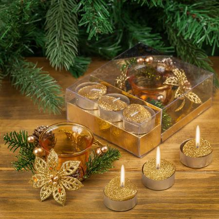 Коледни свещи златни