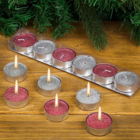 Коледни чаени свещи