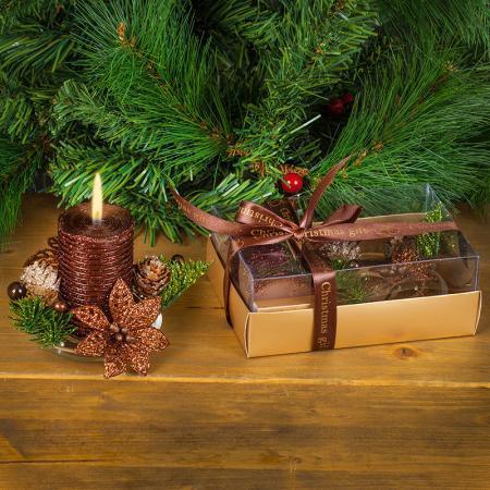 Коледна свещ шоколад