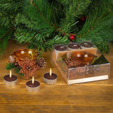Коледни свещи шоколад