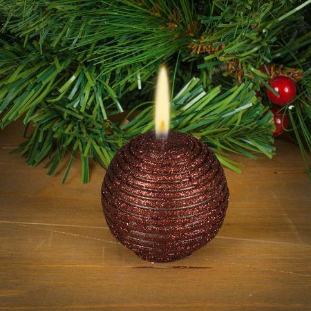 Коледна свещ топка шоколад