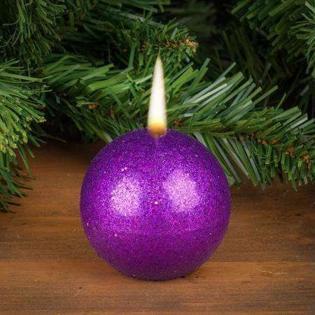 Свещ топка лила